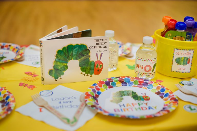Eric Carle Hungry caterpillar theme birthday party
