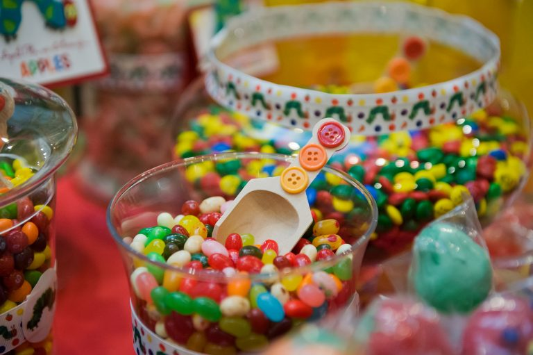 Hungry caterpillar candy buffet